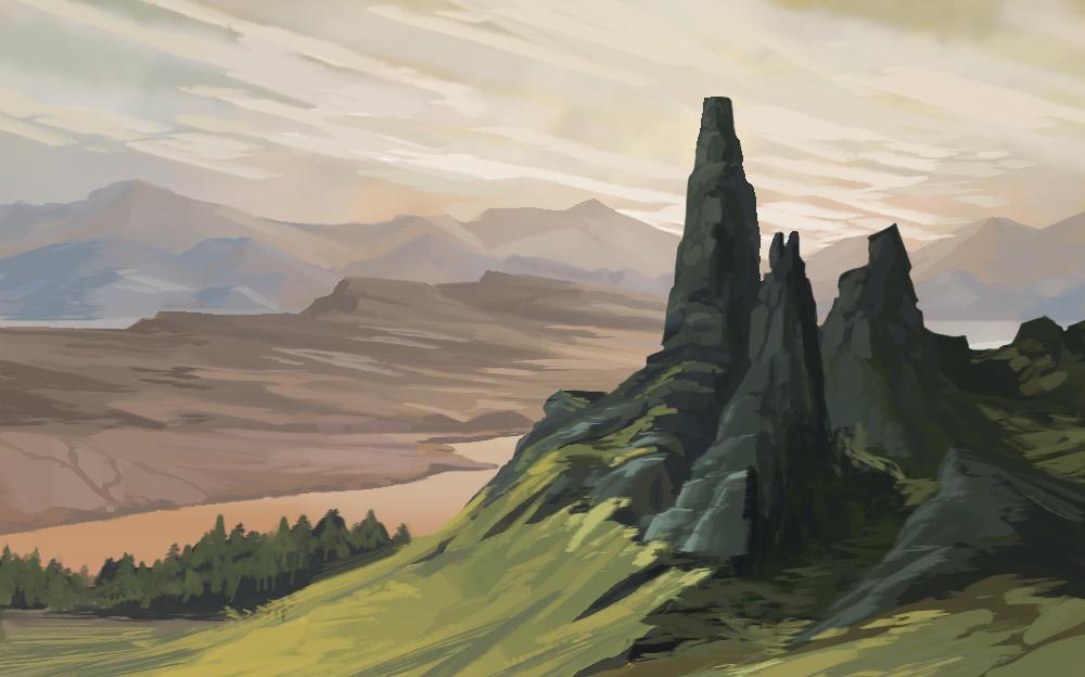 Cliffs by carloscara