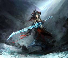 Ice sword by Darkcloud013