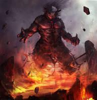 Fire Giant by Darkcloud013
