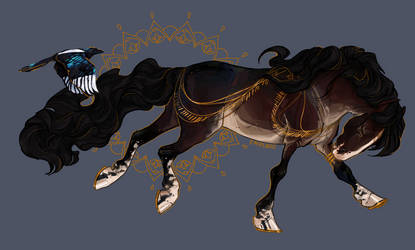 gold leafed magpies by empluvie