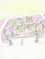 Double Date at Papa Murray's Pizza by mastergamer20