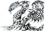 tribal dragon by phantomxxx