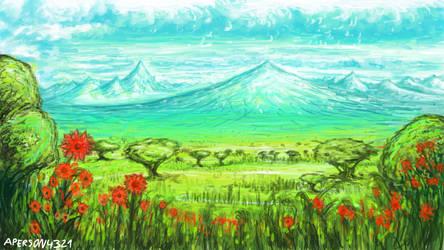 Summer terrain by aperson4321
