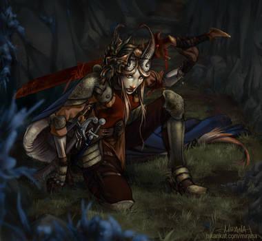 Tiefling Warrior by mirana