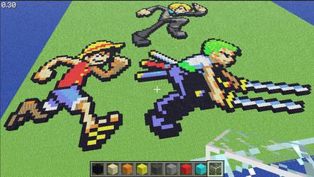 Minecraft Monster Trio Sprites by LNearMelloMatt