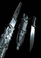 catana and combatknife closeup by MUKKELKATZE