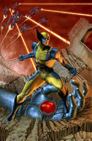 Wolverine and Sentinels by caiocacau