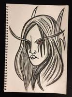 Warcraft: Sylvanas by Varkulu