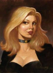 Black Canary portrait by PaulAbrams