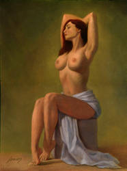 seated nude by PaulAbrams