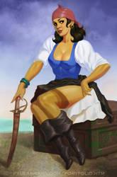 Piratessa Painting by PaulAbrams