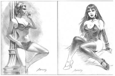 women sketches by PaulAbrams