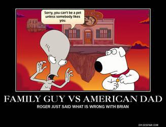 Family guy VS American Dad by Ghostdog123765