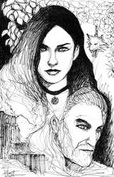 Yennefer and Geralt by AlbertWint