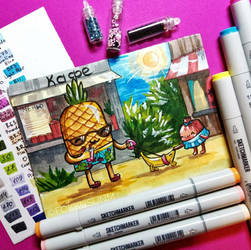 Cute pineapple by FokkusuNM