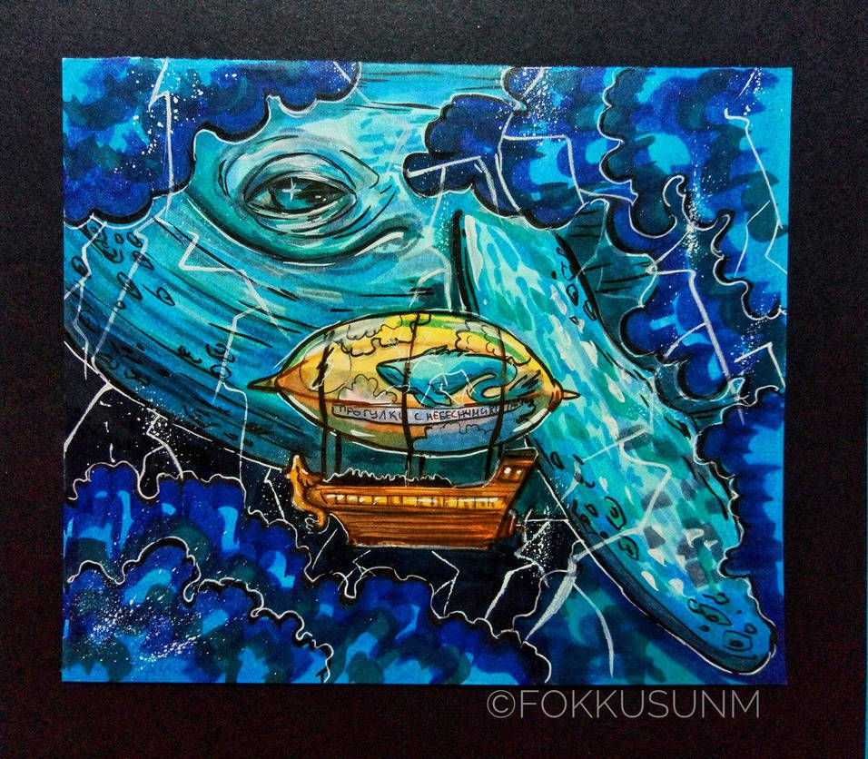 walks with celestial whales by FokkusuNM