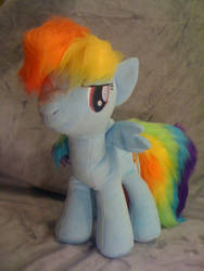 My Little Pony - Rainbow Dash Plush v2 by tentenswift