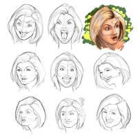 Study Faces by JOSERODMOTA