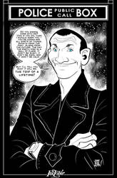 Inktober 10: 9th Doctor by JOSERODMOTA