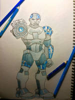 Cyborg Blue by nutty-manju