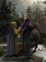 Vysogota of Corvo and Ciri.Farewell. by steamey