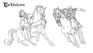 The Valkyrie.Rannveig,Dyarvi and Halvor by steamey