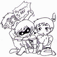 Young Justice - Superboy/Robin/KidFlash chibi love by Cloud-Kitsune