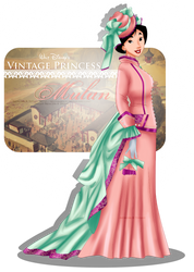 Vintage Princess - Mulan by tiffanymarsou