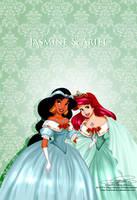 Vintage Christmas - Jasmine and Ariel by tiffanymarsou