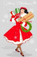 Xmas Postcard - Snow White by tiffanymarsou