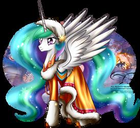 Winter Pony - Princess Celestia by tiffanymarsou