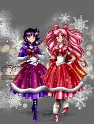 Magical Winter Girls by tiffanymarsou
