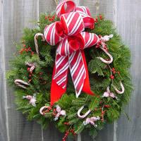 Candy Christmas Wreath by LilyWyte