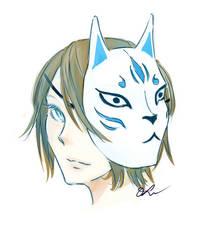 Fox Mask (Coloring Practice) by Dori-tan