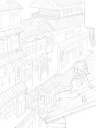 Building Lineart by Dori-tan