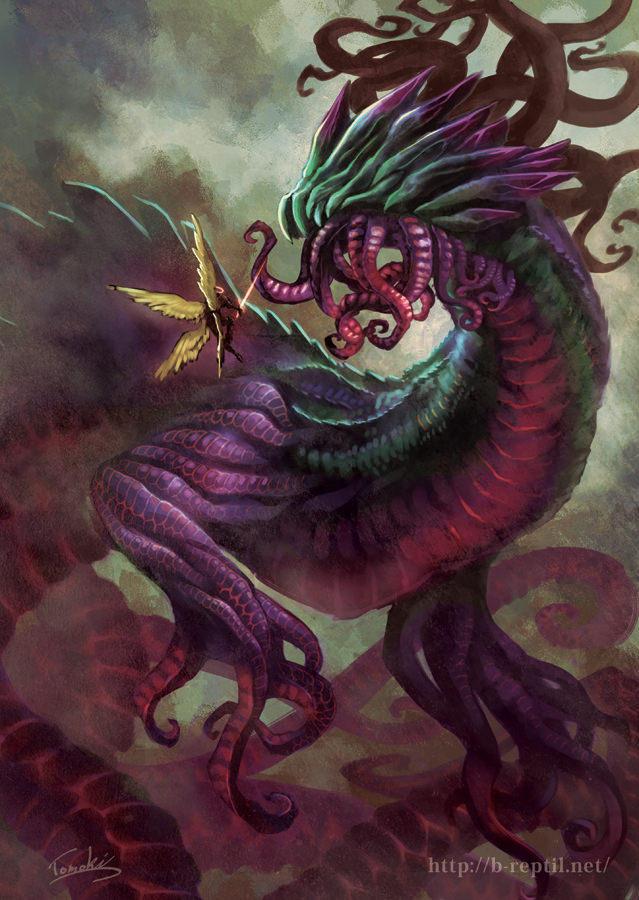 Blasphemous dragon by tomoki17