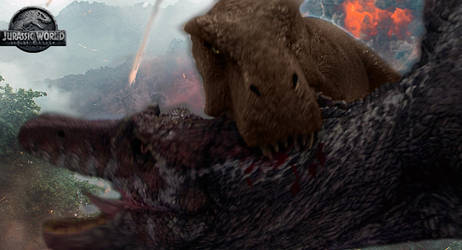 Tyrannosaurus Rex Vs Spinosaurus #2 (JW:FK) by TimBESD