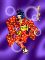 Kimono Girl by ChrisTsuda