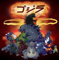 Godzilla Family Photo by SonicKnight007