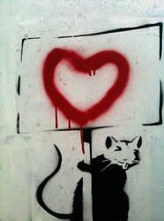 Banksy Rat - expression by Boredomdoodler
