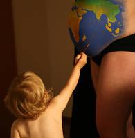 Earth - Little Earthling by HelgaVelroyen