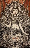 Forest shaman spirit by Julliane