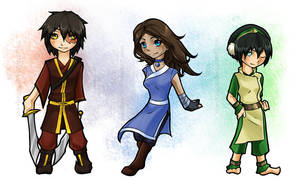 ATLA: Chibis I by Sea-Dragon