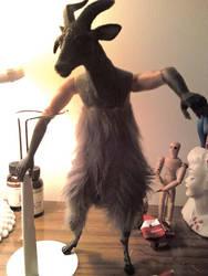 Demon Goat In Progress by blackxbubblegum
