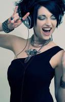 Headphones Rock by BlackRoseArt