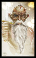 Discworld: Cohen The Barbarian by puggdogg