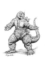 Godzilla by puggdogg