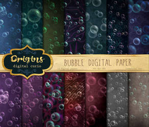 Bubble Digital Paper by DigitalCurio