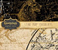 Star Map Overlays by DigitalCurio