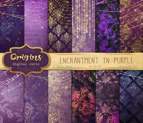 Purple Enchantment Digital Paper by DigitalCurio